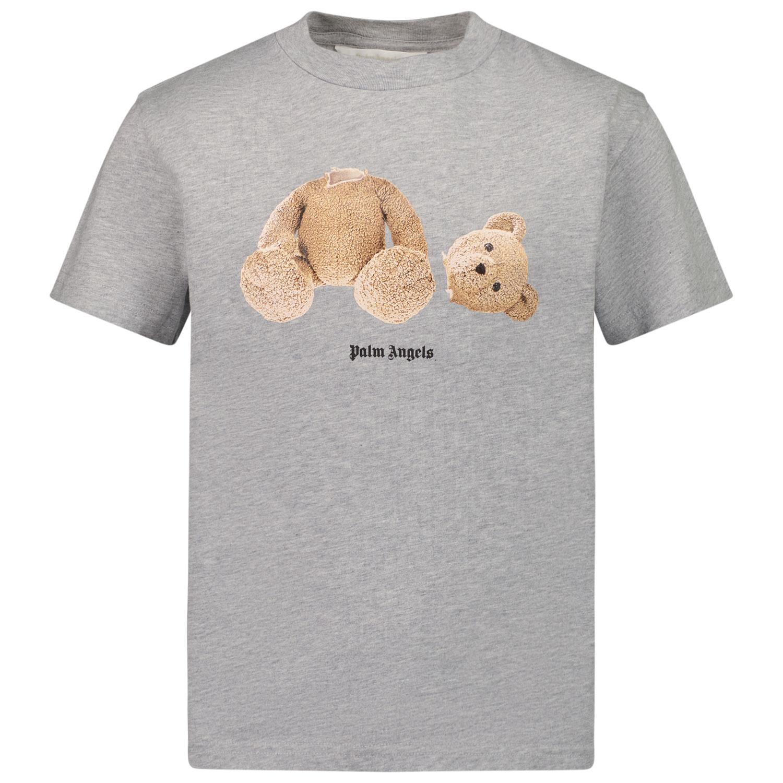 Afbeelding van Palm Angels PBAA001F21JER001 kinder t-shirt grijs