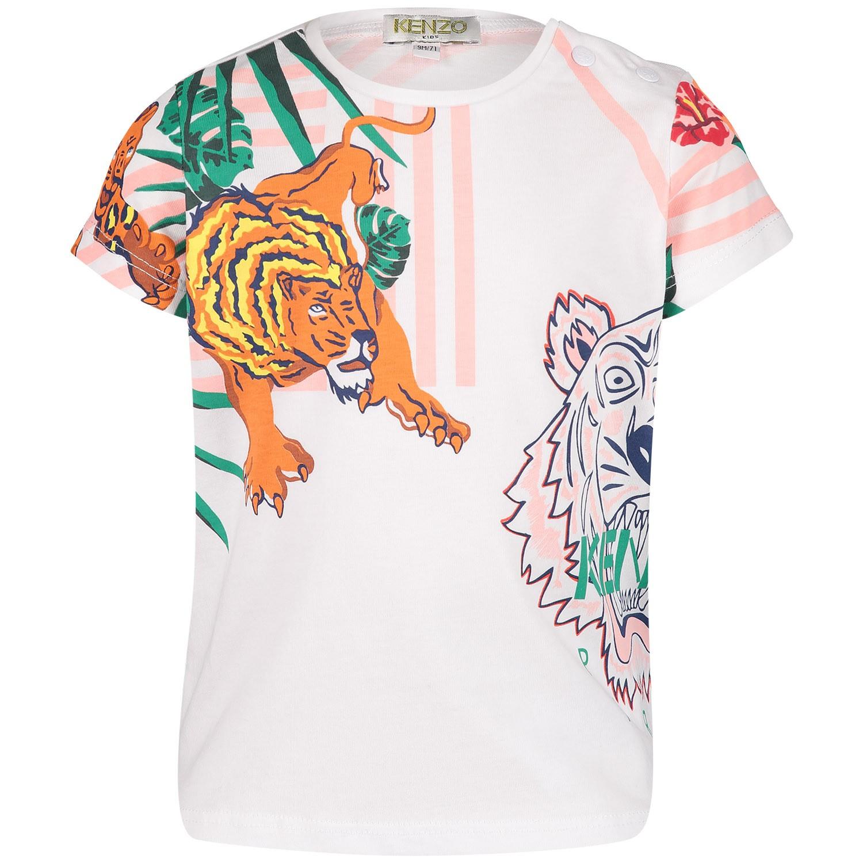 Afbeelding van Kenzo KN10078BB baby t-shirt licht roze