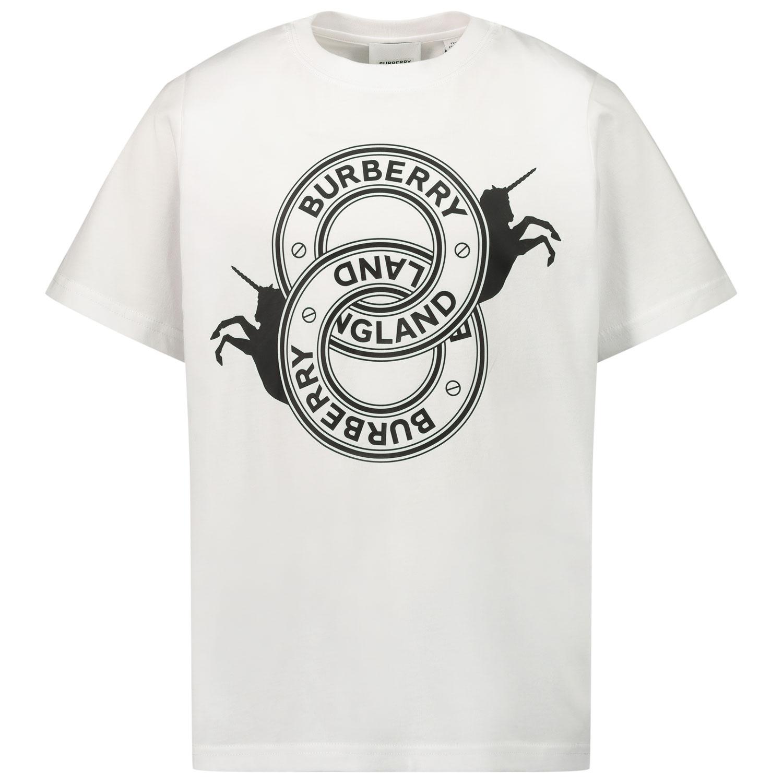 Afbeelding van Burberry 8032830 kinder t-shirt wit