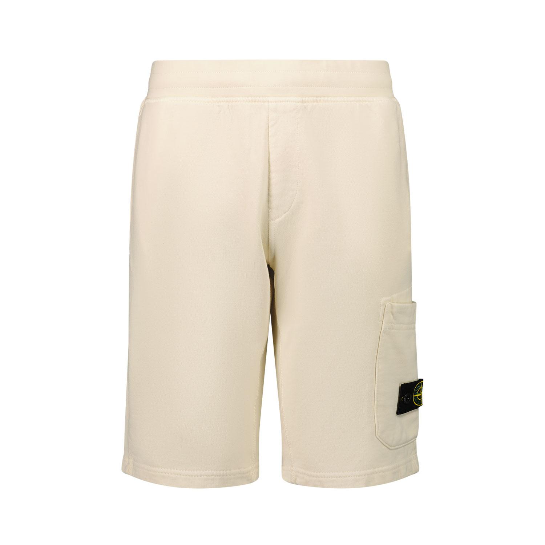 Afbeelding van Stone Island 61840 kinder shorts off white
