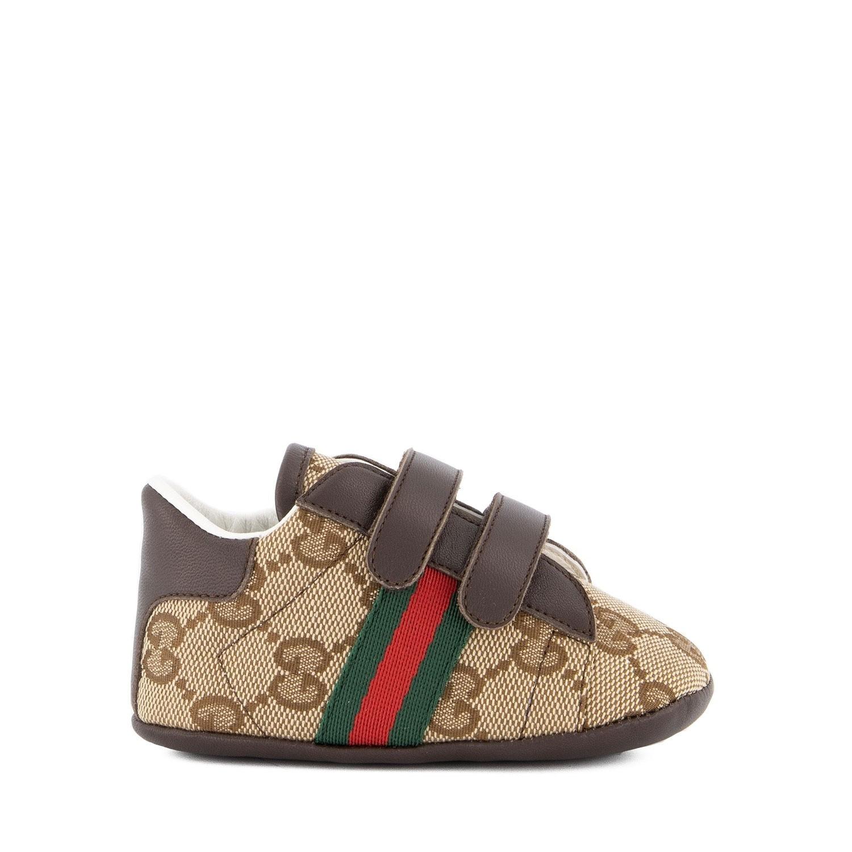 Afbeelding van Gucci 502051 babyschoenen beige
