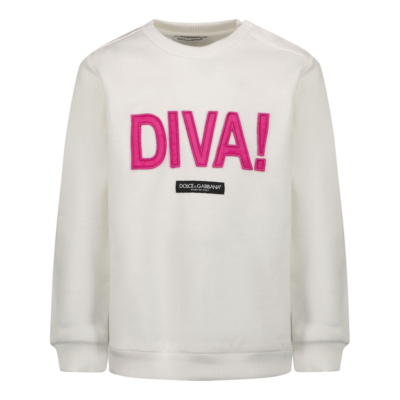 Afbeelding van Dolce & Gabbana L2JWM2 G7BGY baby trui wit