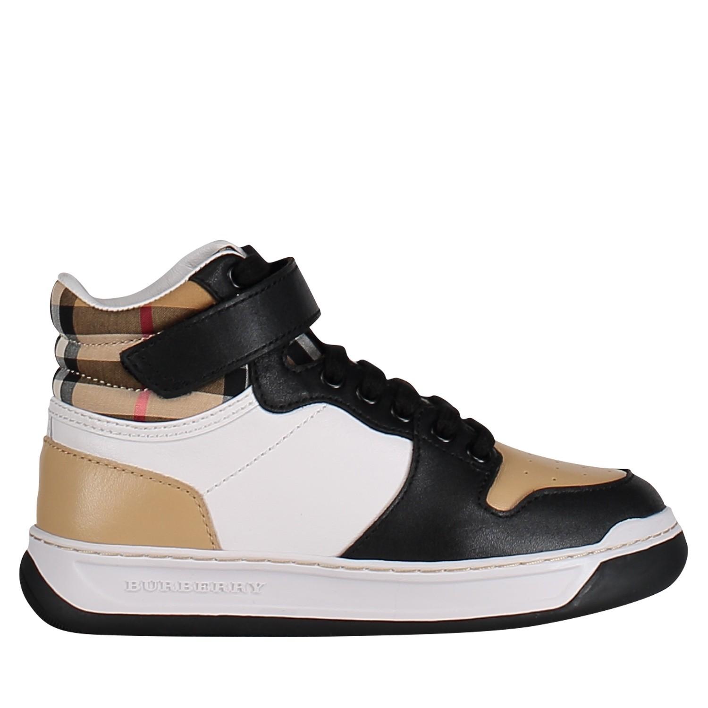 Afbeelding van Burberry 8005791 kindersneakers zwart/beige