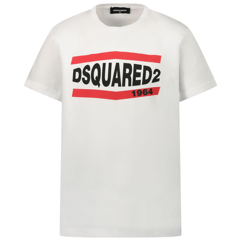 Afbeelding van Dsquared2 DQ0150 kinder t-shirt wit