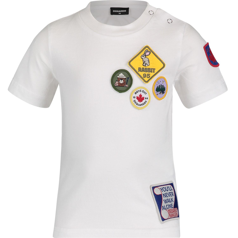 Afbeelding van Dsquared2 DQ03G2 baby t-shirt wit