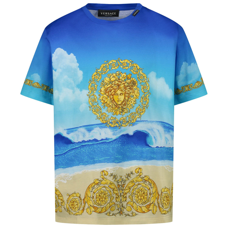 Afbeelding van Versace 1000129 kinder t-shirt blauw
