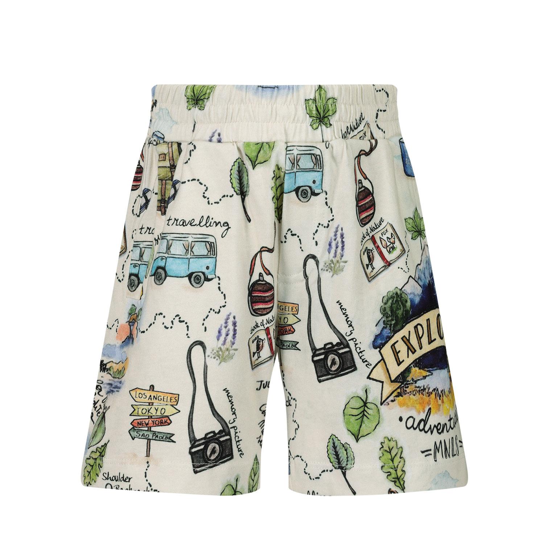 Afbeelding van MonnaLisa 257407 kinder shorts ecru