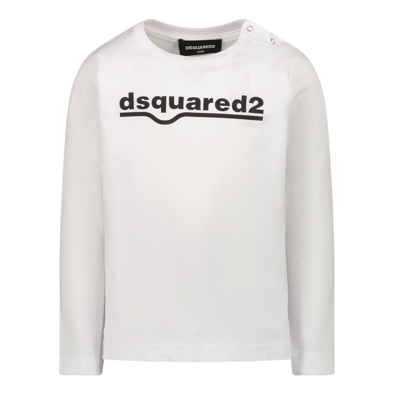 Afbeelding van Dsquared2 DQ0550 baby t-shirt wit