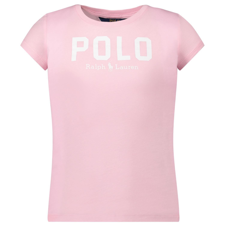 Afbeelding van Ralph Lauren 793933 kinder t-shirt licht roze