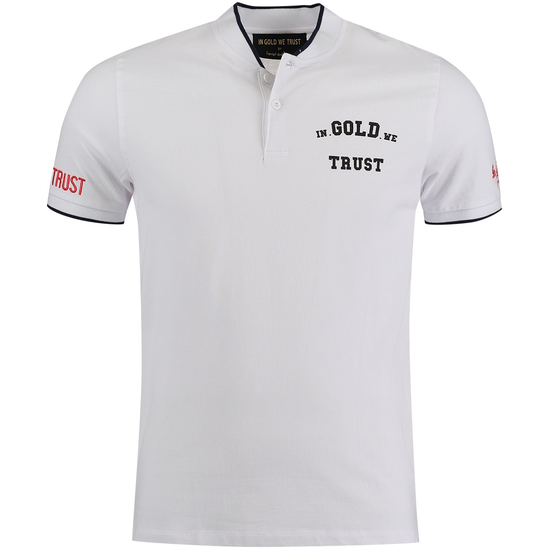 Afbeelding van in Gold We Trust FAPO003 heren polo wit