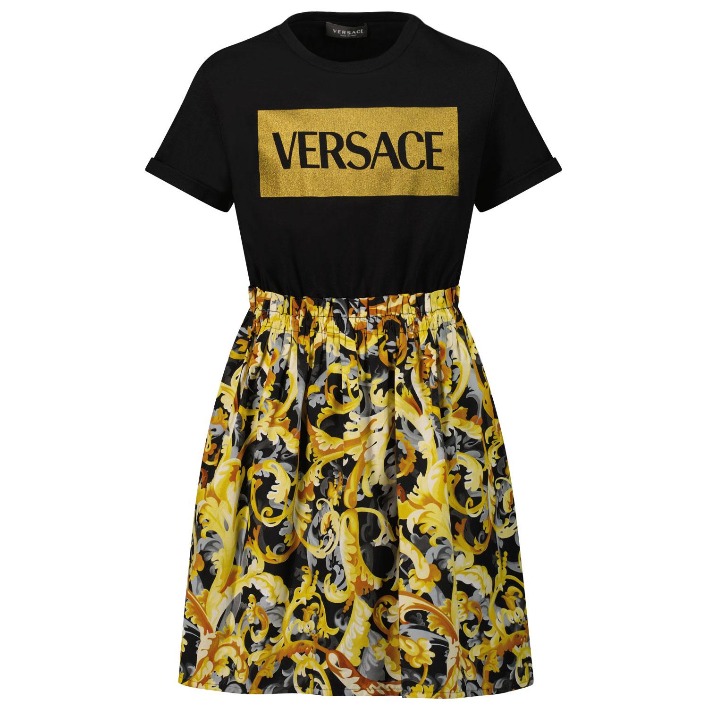 Afbeelding van Versace 1000327 1A01400 kinderjurk zwart/goud