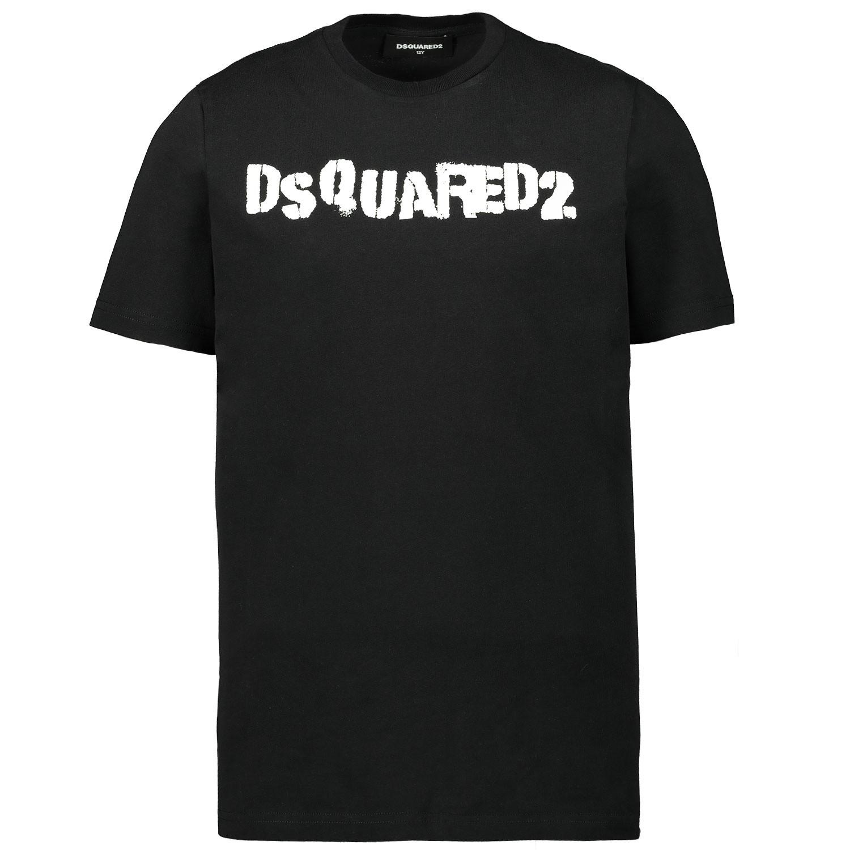 Afbeelding van Dsquared2 DQ03Y1 kinder t-shirt zwart