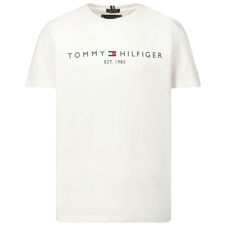 Afbeelding van Tommy Hilfiger KB0KB05627 kinder t-shirt wit