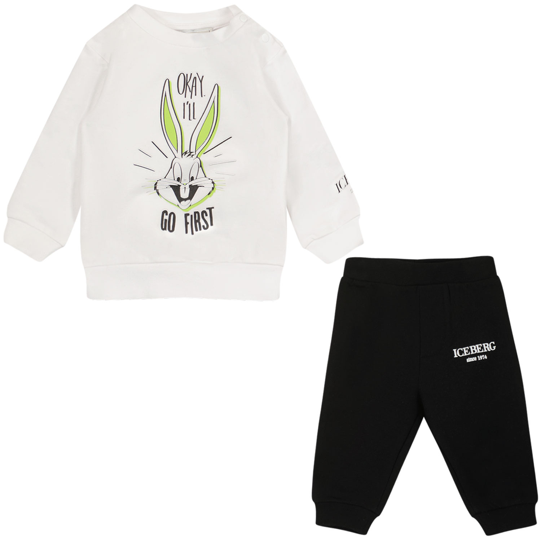 Afbeelding van Iceberg CFICE2303 baby joggingpak zwart/wit
