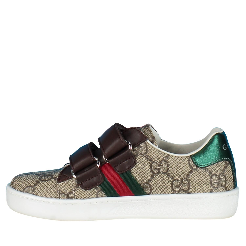 d971542219c Afbeelding van Gucci 463088 kindersneakers bruin