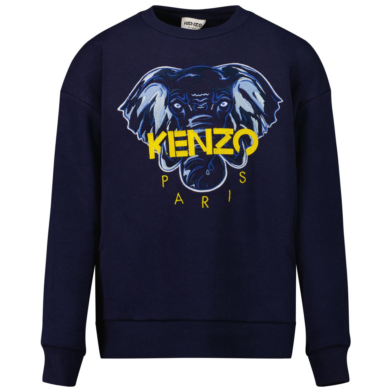 Afbeelding van Kenzo K25168 kindertrui donker blauw