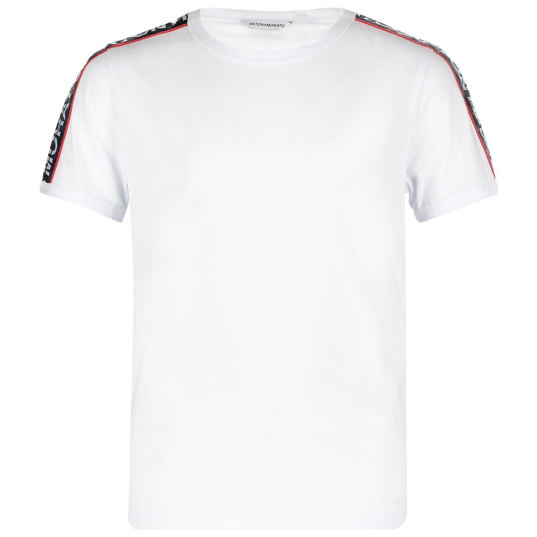 Afbeelding van Antony Morato MKKS00399 kinder t-shirt wit