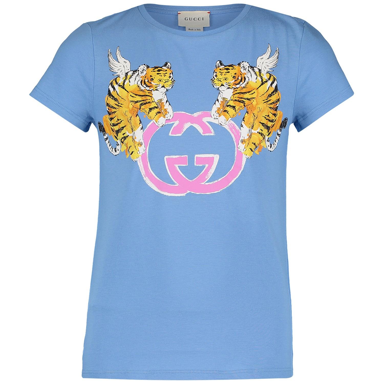 Afbeelding van Gucci 554879 kinder t-shirt blauw