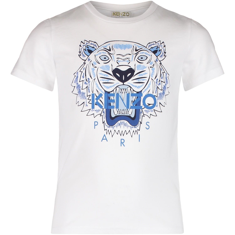 Afbeelding van Kenzo KM10708 kinder t-shirt wit