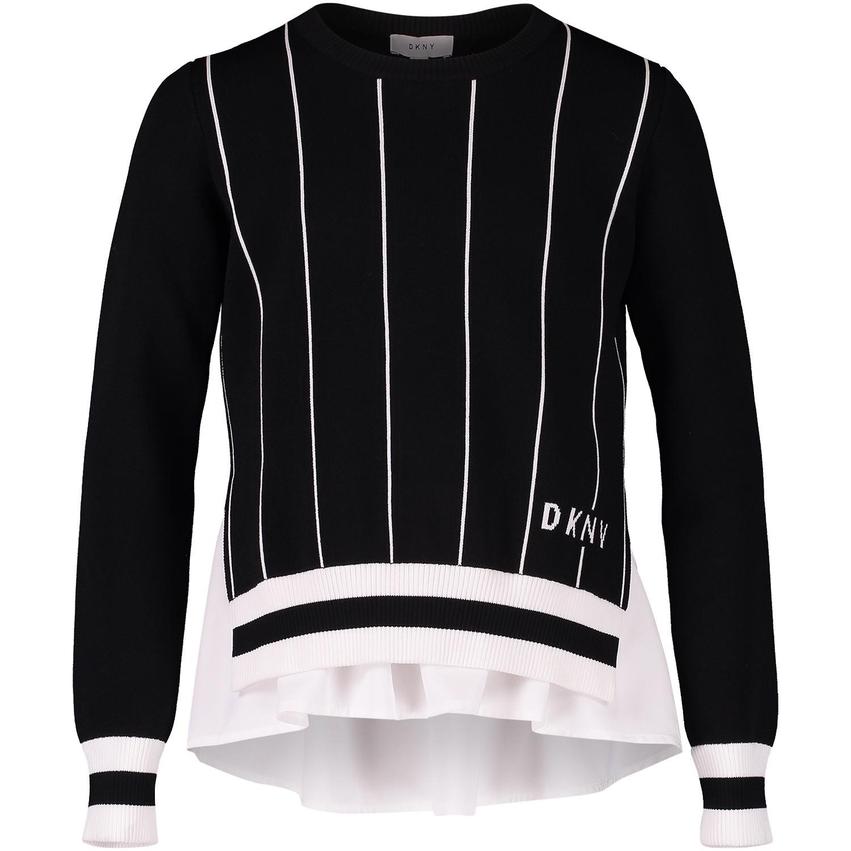 Afbeelding van DKNY D35N76 kindertrui zwart