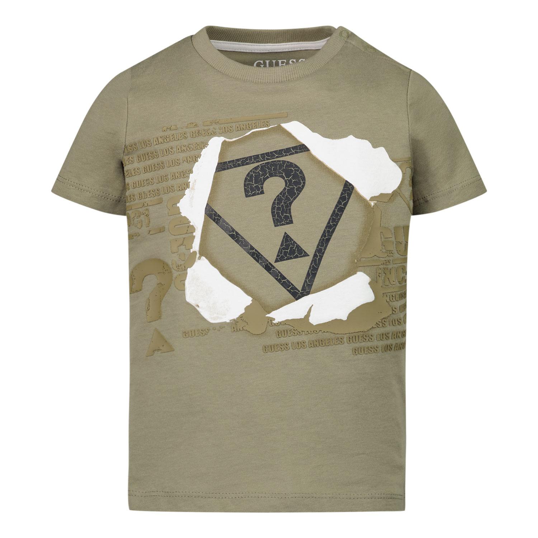 Afbeelding van Guess N1RI09 baby t-shirt army