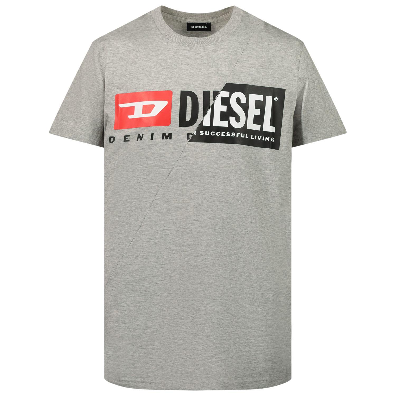 Afbeelding van Diesel 00J4YH kinder t-shirt grijs