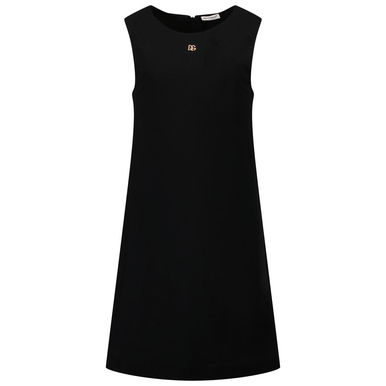 Afbeelding van Dolce & Gabbana L5JDZ2 G7BKH kinderjurk zwart