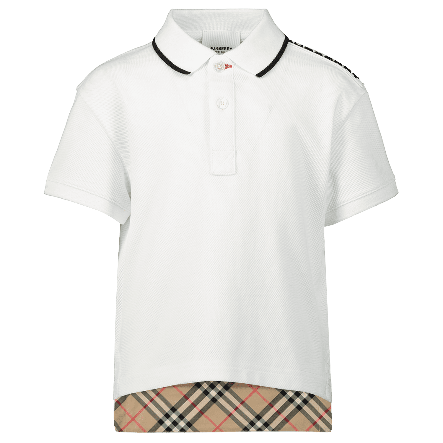 7d2adc55 Picture of Burberry 8013597 kids polo shirt white