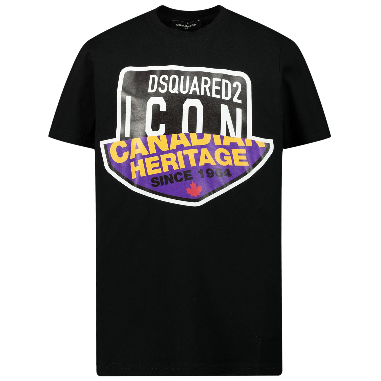 Afbeelding van Dsquared2 DQ0244 kinder t-shirt zwart