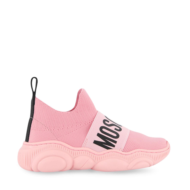 Afbeelding van Moschino 67520 kindersneakers licht roze
