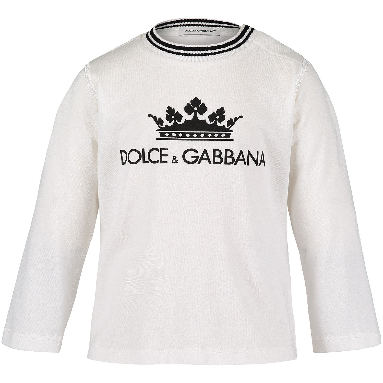 Afbeelding van Dolce & Gabbana L1JT7M G7OGY baby t-shirt wit