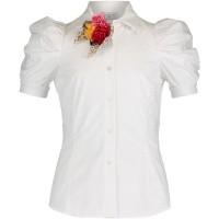 Afbeelding van MonnaLisa 113306FS kinder overhemd wit