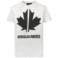Afbeelding van Dsquared2 DQ0028 kinder t-shirt wit