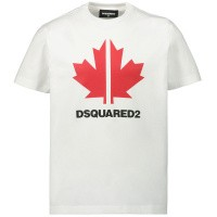 Afbeelding van Dsquared2 DQ03WD kinder t-shirt wit
