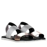 Afbeelding van Pollini SA16331G07 dames sandalen zilver