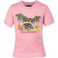 Afbeelding van Dsquared2 DQ03E7 baby t-shirt licht roze