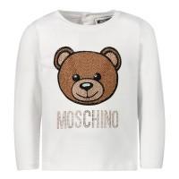 Afbeelding van Moschino MDM021 baby t-shirt off white