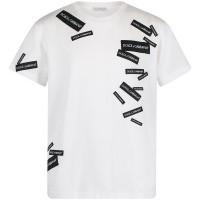Afbeelding van Dolce & Gabbana L4JT7N G7RIG kinder t-shirt wit