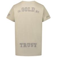 Afbeelding van in Gold We Trust CHAIN EMBROIDERY SHIRT kinder t-shirt licht beige