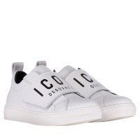 Picture of Dsquared2 57112 kids sneakers white