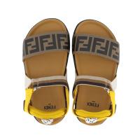 Afbeelding van Fendi JMR340 AEGK kindersandalen bruin/geel
