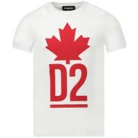 Afbeelding van Dsquared2 DQ03P1 kinder t-shirt wit