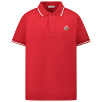 Afbeelding van Moncler 8A70420 kinder polo rood