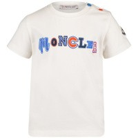 Afbeelding van Moncler 8025450 baby t-shirt off white