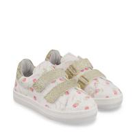 Afbeelding van MonnaLisa 837003 kindersneakers wit/goud