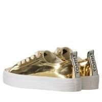 Afbeelding van Tommy Hilfiger FW0FW03378708W8C dames sneakers goud