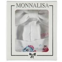 Afbeelding van MonnaLisa 353018 babymutsje wit