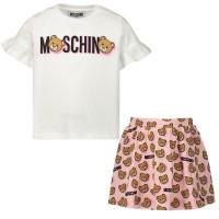 Afbeelding van Moschino MDG000 babysetje roze/wit