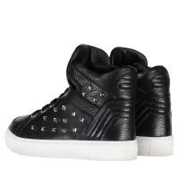 Afbeelding van Philipp Plein BSC0055 kindersneakers zwart