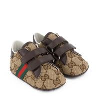Afbeelding van Gucci 502051 babysneakers bruin/beige